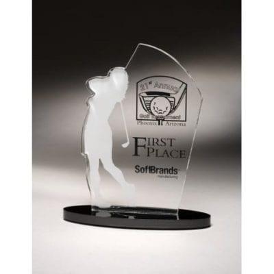 SIGOF07 Female Acrylic Golf Award