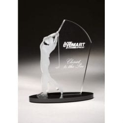 SIGOM09 Male Acrylic Golf Award