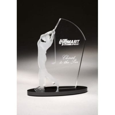 SIGOM11 Male Acrylic Golf Award