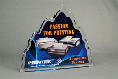 Full Color Printed Award Example 2